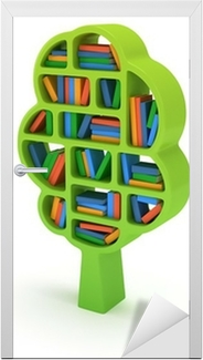 3d Tree Of Knowledge Bookshelf On White Poster O PixersR We Live To Change