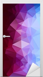 Abstract polygonal background. Door Sticker
