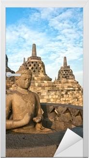 Borobudur Temple, Yogyakarta, Java, Indonesia. Door Sticker