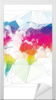Colored world map triangle design wall mural pixers we live to colored world map triangle design wall mural pixers we live to change gumiabroncs Image collections
