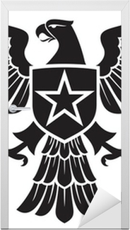 eagle and star coat of arms Door Sticker