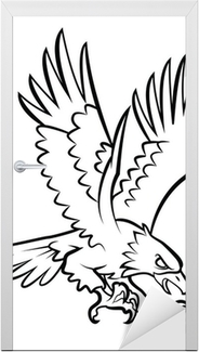 Eagle Tattoo Vector Illustration Door Sticker