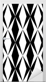 geometric pattern Door Sticker