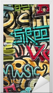 Graffiti background Door Sticker