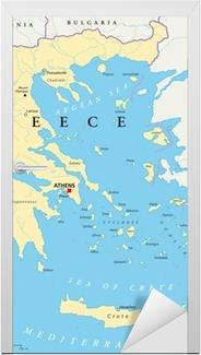 Griechenland Landkarte Door Sticker