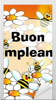 Happy birthday card italian wall mural pixers we live to change bookmarktalkfo Gallery