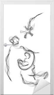 Holy family christmas abstract religious nativity drawing vector holy family christmas abstract religious nativity drawing vector illustration mary joseph and jesus poster pixers we live to change altavistaventures Gallery