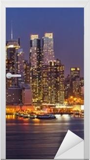 Manhattan by night Door Sticker