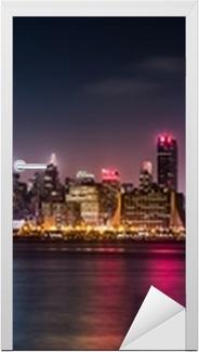 Manhattan Panorama during the Pride Weekend Door Sticker
