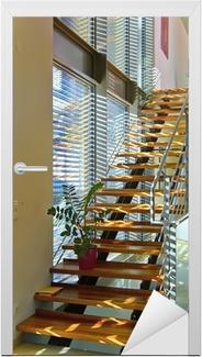 Modernes Treppenhaus In Architektenhaus Lichtdurchflutet Wall Mural