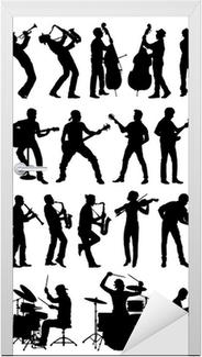Musicians vector silhouettes Door Sticker