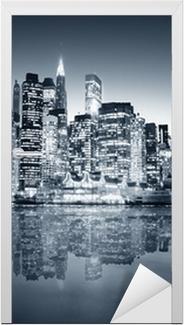 New York manhattan Door Sticker