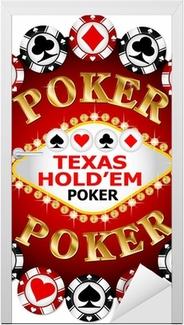 Poker chip Door Sticker