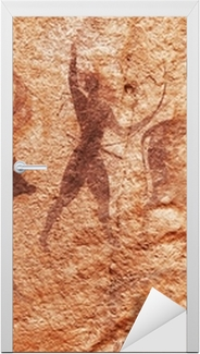 Rock paintings of Tassili N'Ajjer, Algeria Door Sticker