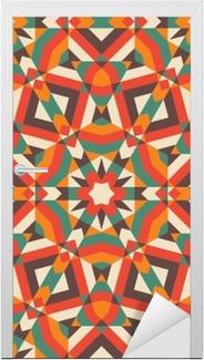 Seamless mosaic pattern. Door Sticker