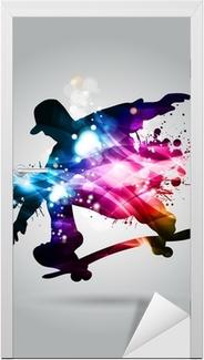 Skateboard Door Sticker
