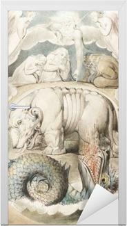William Blake - Behemoth and Lewiathan Door Sticker