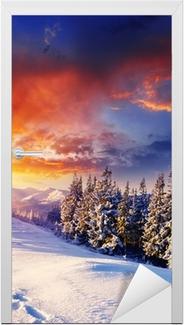 winter Door Sticker