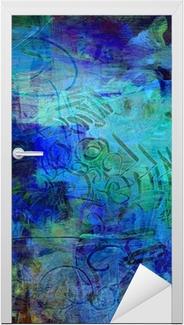 Acrylfarben auf holzplatte Dør klistemærke