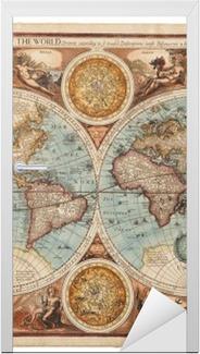 Gamle kort (1626) Dør klistemærke