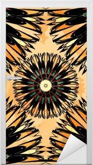 Orientalsk farverig ornament sømløs mønster Vector illustration Dør klistemærke