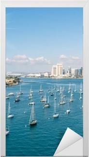 San Diego skyline og Waterfront Dør klistemærke