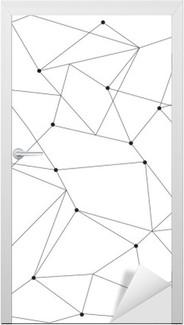Scandinavian geometriske moderne sømløse mønster Dør klistemærke