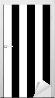 Dørklistremerke Diagonale linjer svart og hvitt mønster