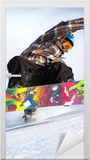 Dørklistremerke Snowboard evolusjon