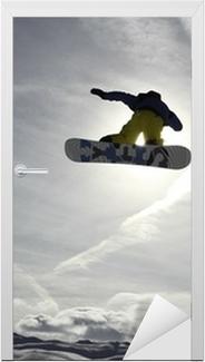 Dørklistremerke Snowboard