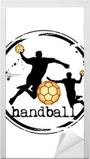 Dørklistremerke Timbre håndball