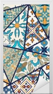 Dørklistremerke Vektor dekorative bakgrunn. mosaikk patchwork mønster for design og mote