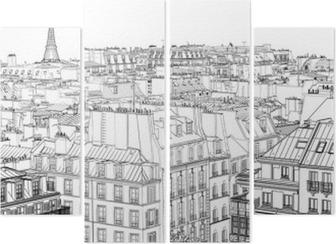 Dört Parçalı Paris'te çatılar