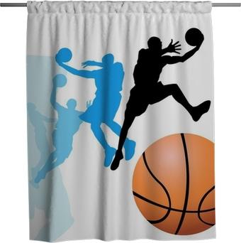 Douchegordijn Basketbalspelers
