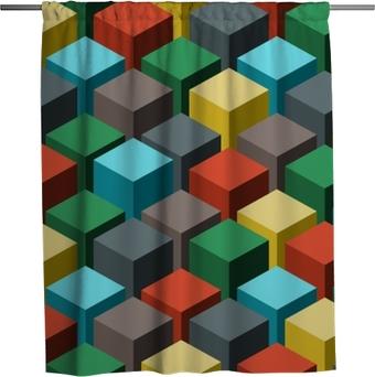 Douchegordijn Naadloze geometrische abstracte patroon. vectorillustratie