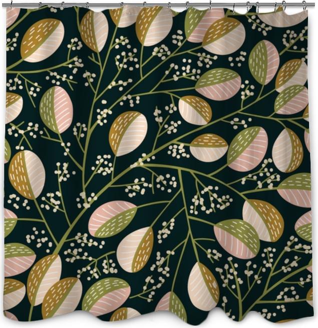 Douchegordijn Naadloze lente boom patroon - Bloemen en Planten