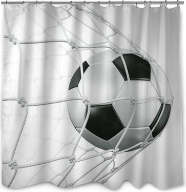 Douchegordijn Soccerball in netto