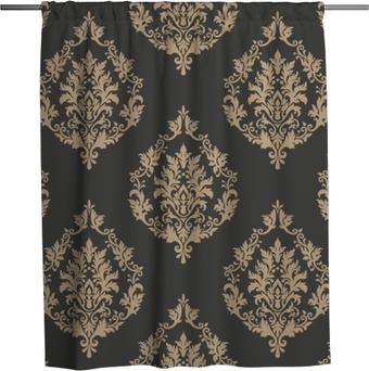 Douchegordijn Vector damast naadloze patroon achtergrond. klassieke luxe ouderwetse damast ornament, Koninklijke Victoriaanse naadloze textuur voor achtergronden, textiel, onmiddellijke verpakking. prachtige bloemen barokke sjabloon