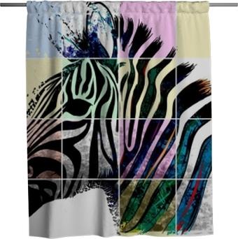 Douchegordijn Zebra zebrato