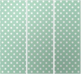 Drieluik Stippen op mint achtergrond retro naadloze vector patroon
