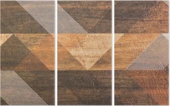 Drieluik Tegels met geometrische vormen