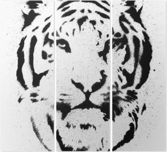 Sticker Tiger Stencil Vector Pixers We Leven Om Te Veranderen