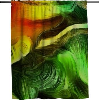 Duschgardin Flytande linjer med färgrörelse