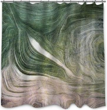 Duschgardin Nyanser av grönt