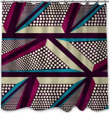 Duschvorhang Grunge farbigen Graffiti nahtlose Muster