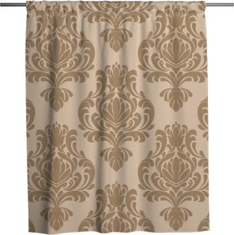 Duschvorhang Nahtlose Damast retro Tapete für Design