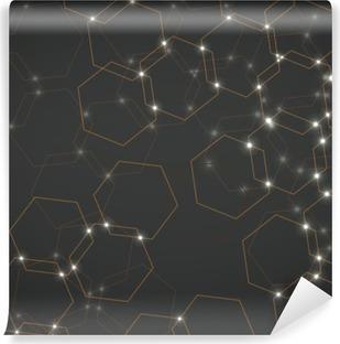 Vinil Duvar Resmi Altıgen hücrelerin arka plan, geometrik tasarım vektör çizim 10 eps