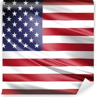 Vinil Duvar Resmi Amerika Bayrağı