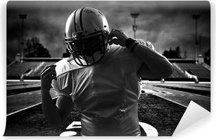 Vinil Duvar Resmi Amerikan Futbolu Runningback stadyum