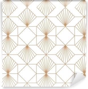 Vinil Duvar Resmi Art deco retro seamless modeli. vektör sanat